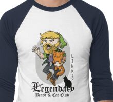 Link's Legendary Beard and Cat Club Men's Baseball ¾ T-Shirt