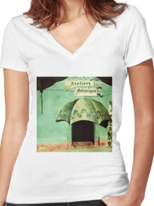 Ateliers Artistique. Women's Fitted V-Neck T-Shirt