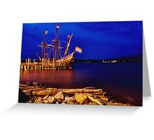 """""""The Half Moon"""" Replica of the Henry Hudson Boat Greeting Card"""