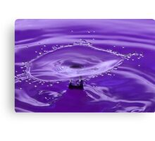 Purple Water Splash Canvas Print