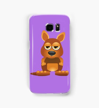 Tired cute kangaroo Samsung Galaxy Case/Skin