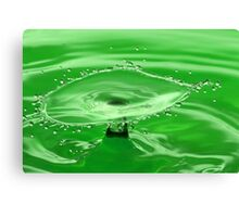 Green Water Splash Canvas Print