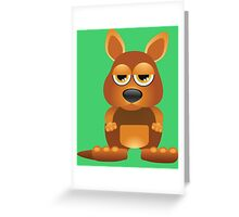 Tired cute kangaroo Greeting Card