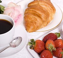Coffee And Croissant by Lynne Morris