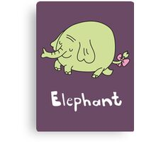 E for Elephant Canvas Print
