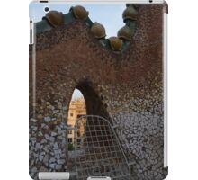 Barcelona Through Gaudi's Whimsical Little Window on the Tiled Roof of Casa Batllo iPad Case/Skin