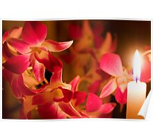 Orchids by Candlelight Poster