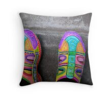 Dazzling STEPS hand painted shoes! Throw Pillow