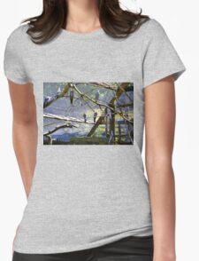 Birds  Somerset UK Womens Fitted T-Shirt
