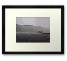 Lochranza Castle in a Storm Framed Print