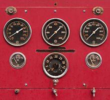 Fire Truck Gauges by William C. Gladish