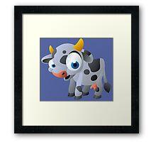 Cute goggle-eyed calf Framed Print