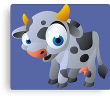 Cute goggle-eyed calf Canvas Print