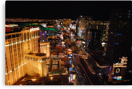 The Strip - Las Vegas Skyline by Roxanne Persson