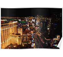 The Strip - Las Vegas Skyline Poster