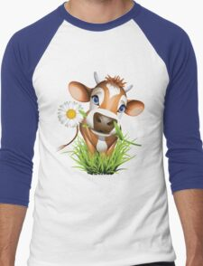Cute cow has a gift for you Men's Baseball ¾ T-Shirt