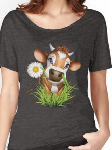 Cute cow has a gift for you Women's Relaxed Fit T-Shirt