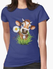 Cute cow has a gift for you Womens Fitted T-Shirt