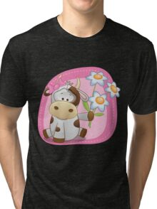 Lovely happy cow Tri-blend T-Shirt
