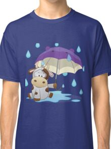 Silly cow under umbrella Classic T-Shirt