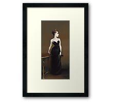Sargent's Madame X Recreation Framed Print
