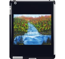 Waterfall landscape oil painting iPad Case/Skin