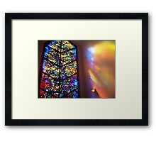 The Healing Window Stained glass window to Heaven Framed Print