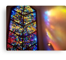 The Healing Window Stained glass window to Heaven Canvas Print