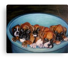Funny Puppies oil painting Canvas Print