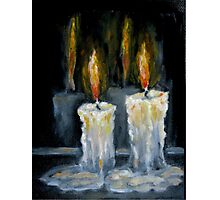 Candles Original oil painting Photographic Print