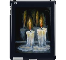 Candles Original oil painting iPad Case/Skin