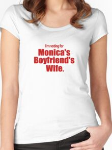 Voting for Monica's Boyfriend's Wife Women's Fitted Scoop T-Shirt