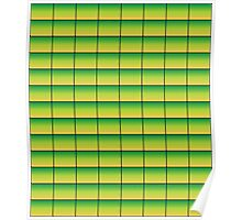 Green to Yellow Pattern Poster