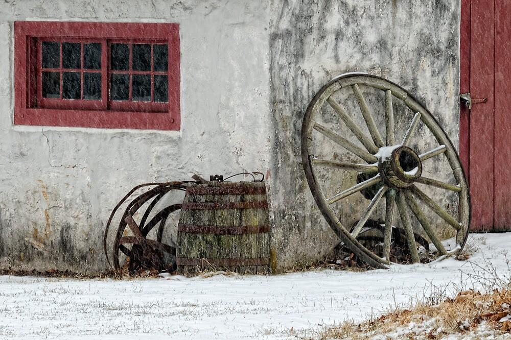 Wheel Barrel (2) by Don Schroder