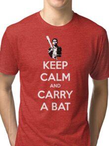 Keep Calm and Carry A Bat Tri-blend T-Shirt