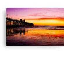 Oceanside Pier at Sunset Canvas Print