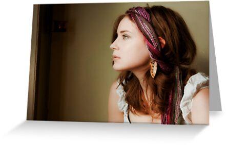 Self Portrait With Gypsy Scarf II by EchoNorth