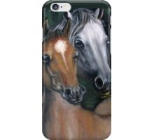 Two horses oil painting  iPhone Case/Skin