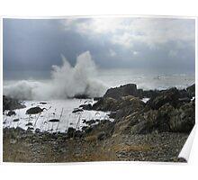 Kennebunkport, Maine - Crashing Waves Poster