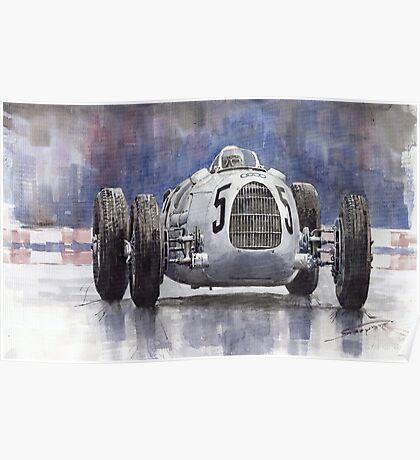Auto Union Type C 1936 Poster