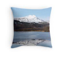 Ben Lomond- mountain reflection in loch Throw Pillow