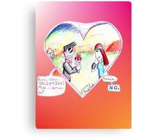Valentine Failure Canvas Print