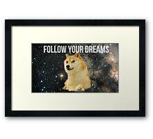 Doge Shibe Meme  Framed Print