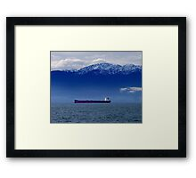 Tanker at Anchor Framed Print