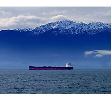 Tanker at Anchor Photographic Print