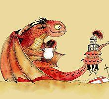 Dragon, tea & Saint George by djrbennett