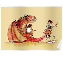 Dragon, tea & Saint George Poster