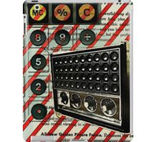 geeky nerdy retro calculator vintage shortwave radio  iPad Case/Skin