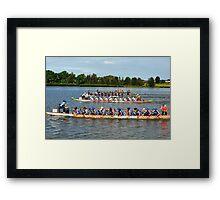 Dragon Boats -- Get set Go Go Go !!! Framed Print