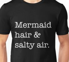 Black mermaid hair Unisex T-Shirt